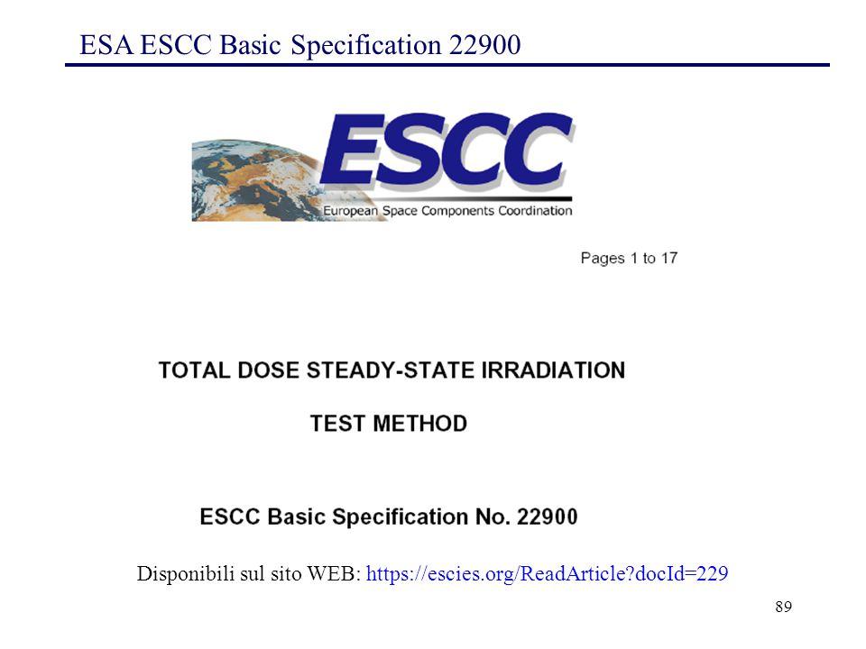 ESA ESCC Basic Specification 22900