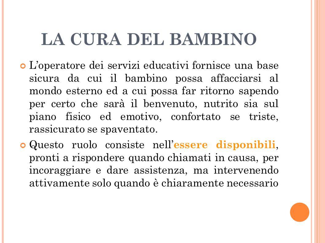 LA CURA DEL BAMBINO