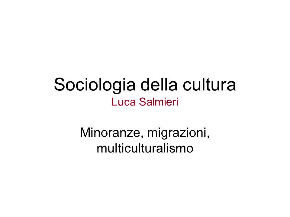 Sociologia della cultura Luca Salmieri