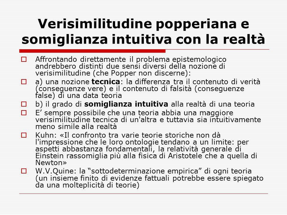 Verisimilitudine popperiana e somiglianza intuitiva con la realtà
