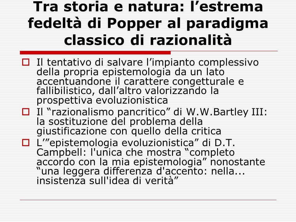 Tra storia e natura: l'estrema fedeltà di Popper al paradigma classico di razionalità