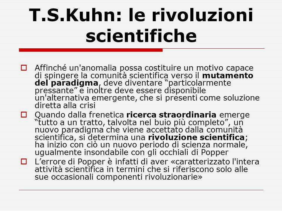 T.S.Kuhn: le rivoluzioni scientifiche