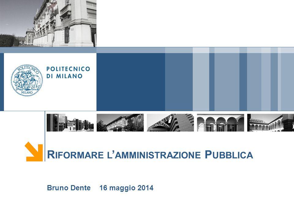 Riformare l'amministrazione Pubblica
