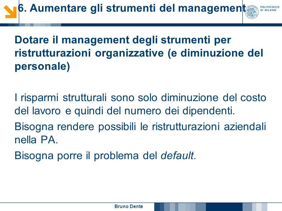 6. Aumentare gli strumenti del management