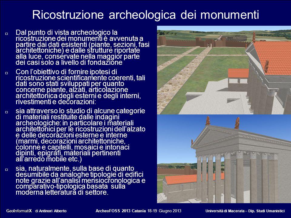 Ricostruzione archeologica dei monumenti