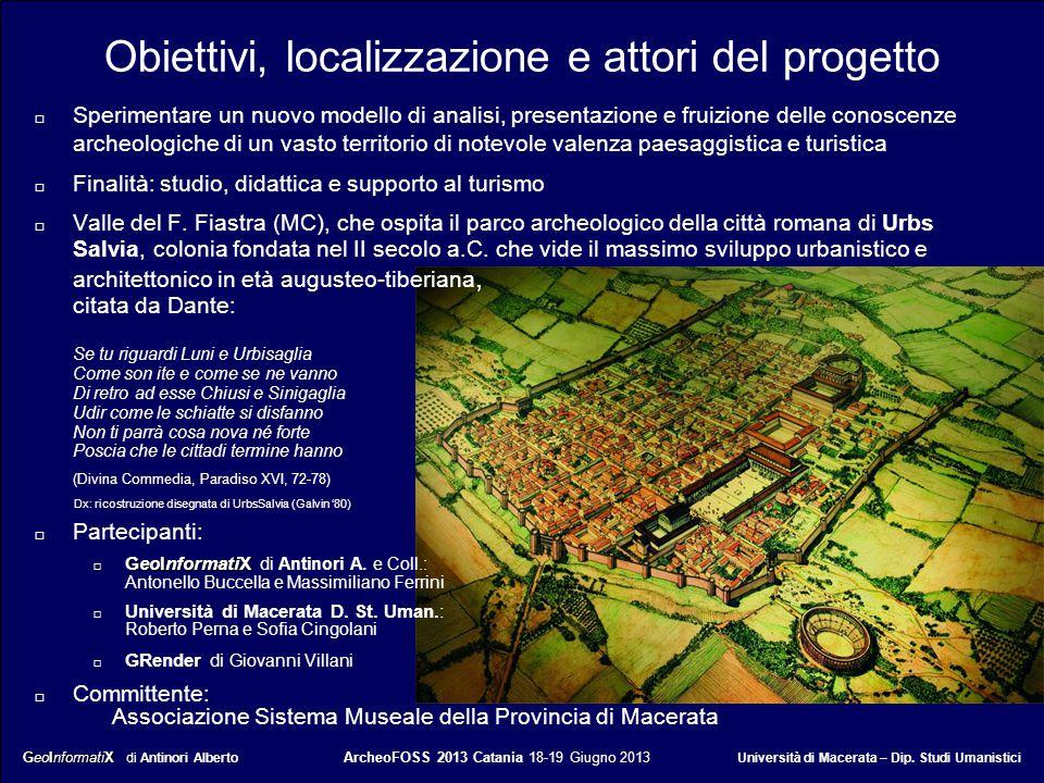 Obiettivi, localizzazione e attori del progetto