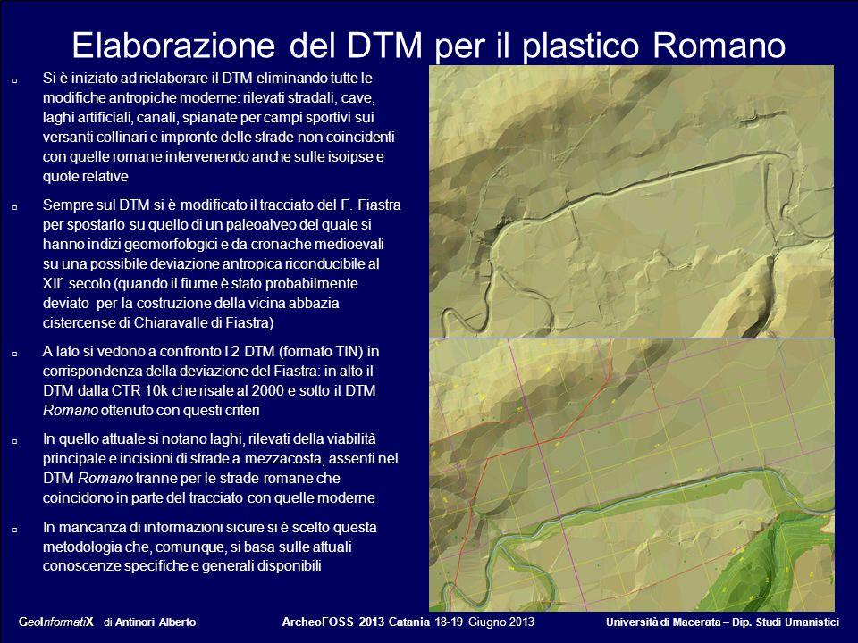 Elaborazione del DTM per il plastico Romano
