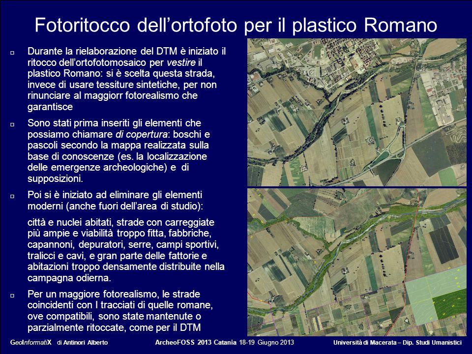 Fotoritocco dell'ortofoto per il plastico Romano