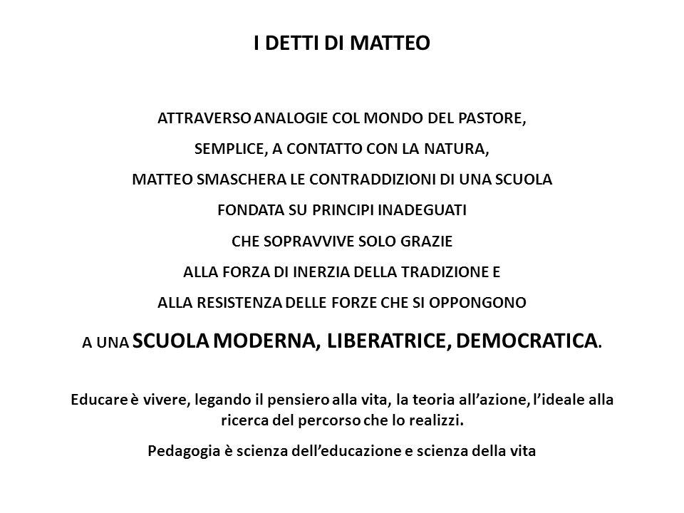 I DETTI DI MATTEO ATTRAVERSO ANALOGIE COL MONDO DEL PASTORE,