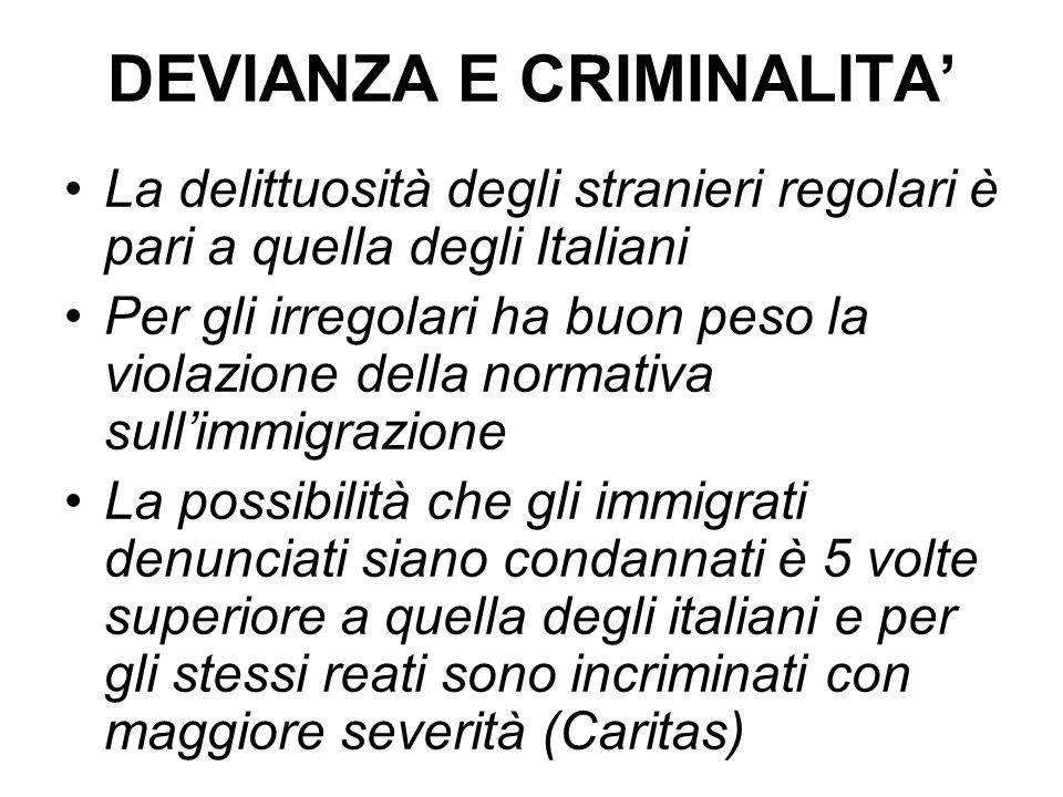 DEVIANZA E CRIMINALITA'