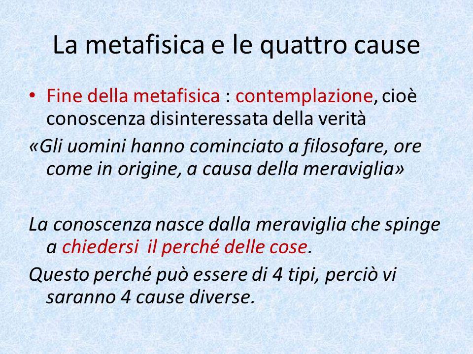La metafisica e le quattro cause