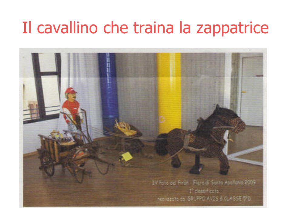 Il cavallino che traina la zappatrice