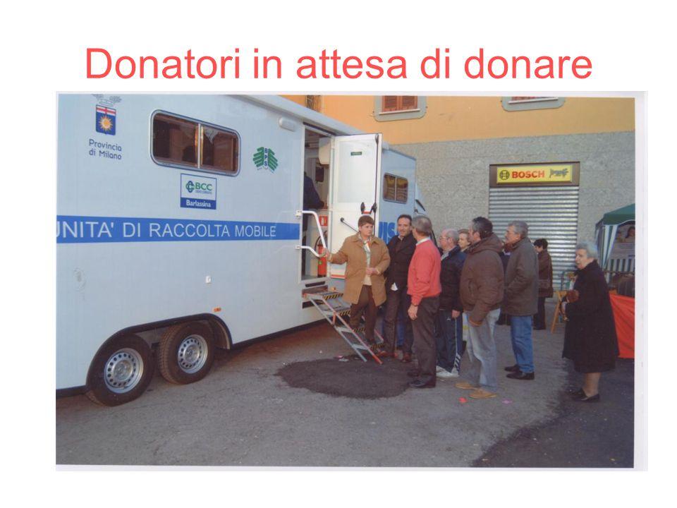 Donatori in attesa di donare