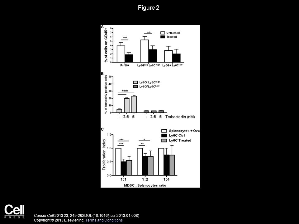 Figure 2 Effect of Trabectedin on Splenic Myeloid Cells from Tumor-Bearing Mice.