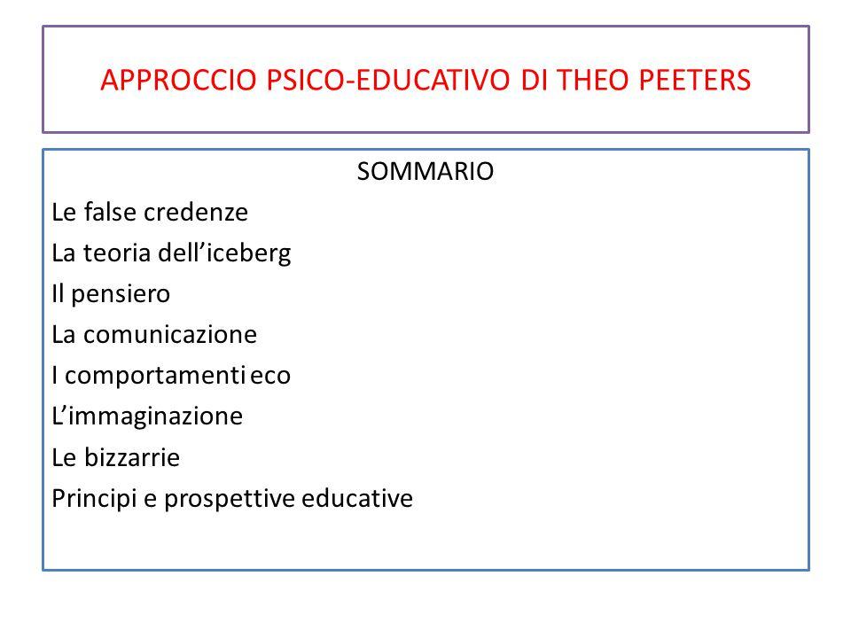 APPROCCIO PSICO-EDUCATIVO DI THEO PEETERS