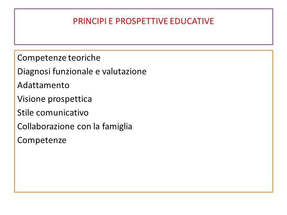 PRINCIPI E PROSPETTIVE EDUCATIVE