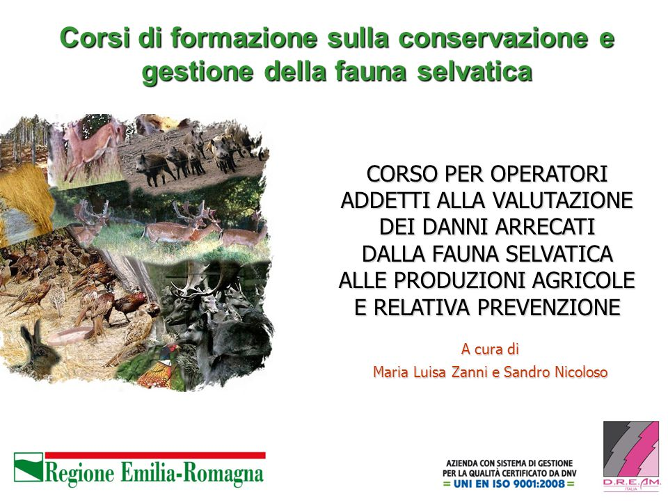 Corsi di formazione sulla conservazione e gestione della fauna selvatica