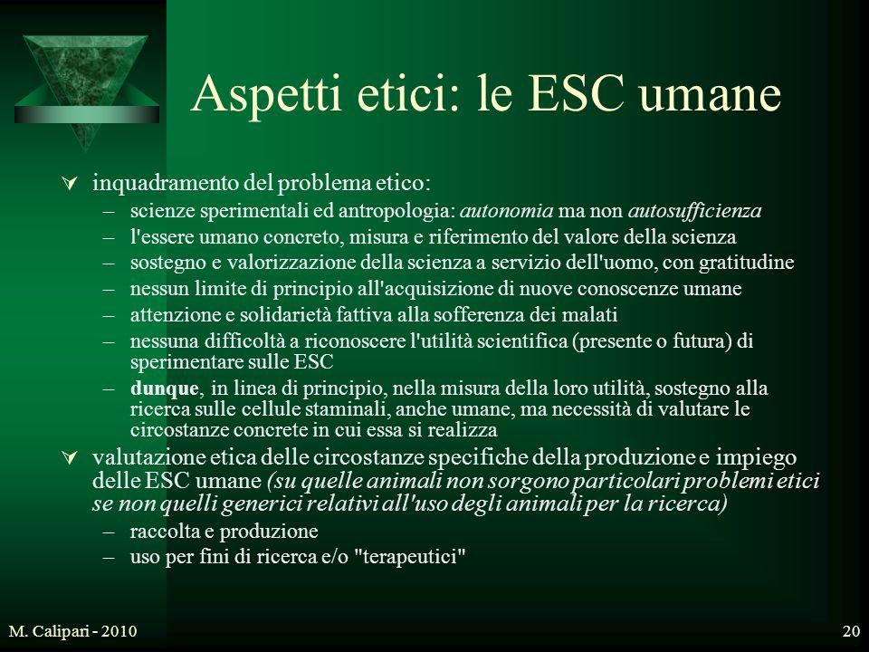 Aspetti etici: le ESC umane