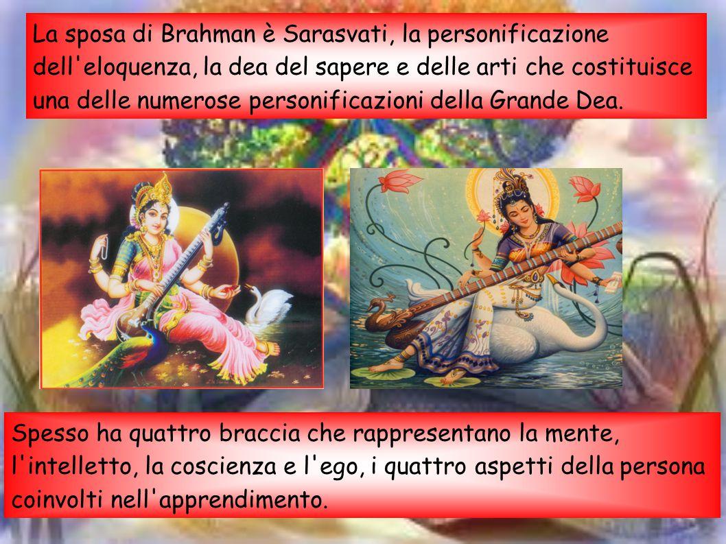 La sposa di Brahman è Sarasvati, la personificazione