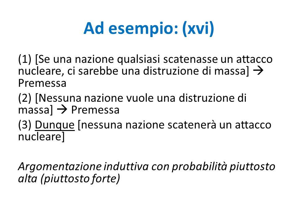 Ad esempio: (xvi)