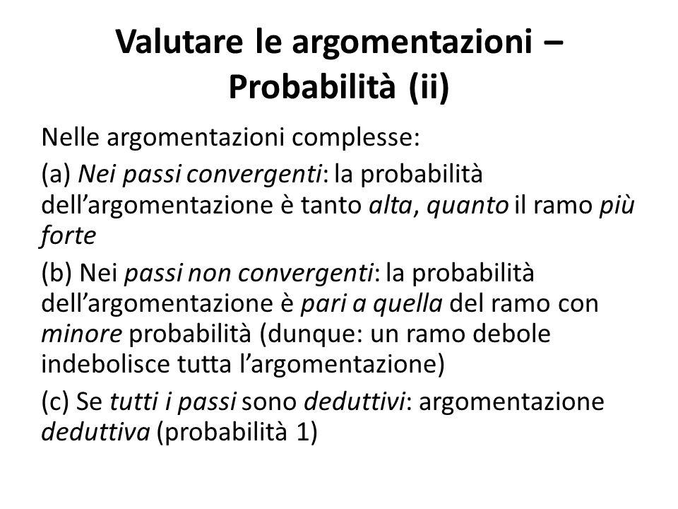 Valutare le argomentazioni – Probabilità (ii)