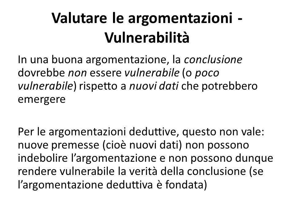 Valutare le argomentazioni - Vulnerabilità