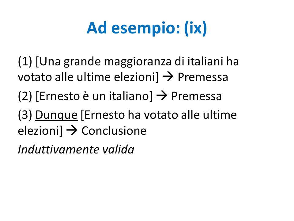 Ad esempio: (ix)