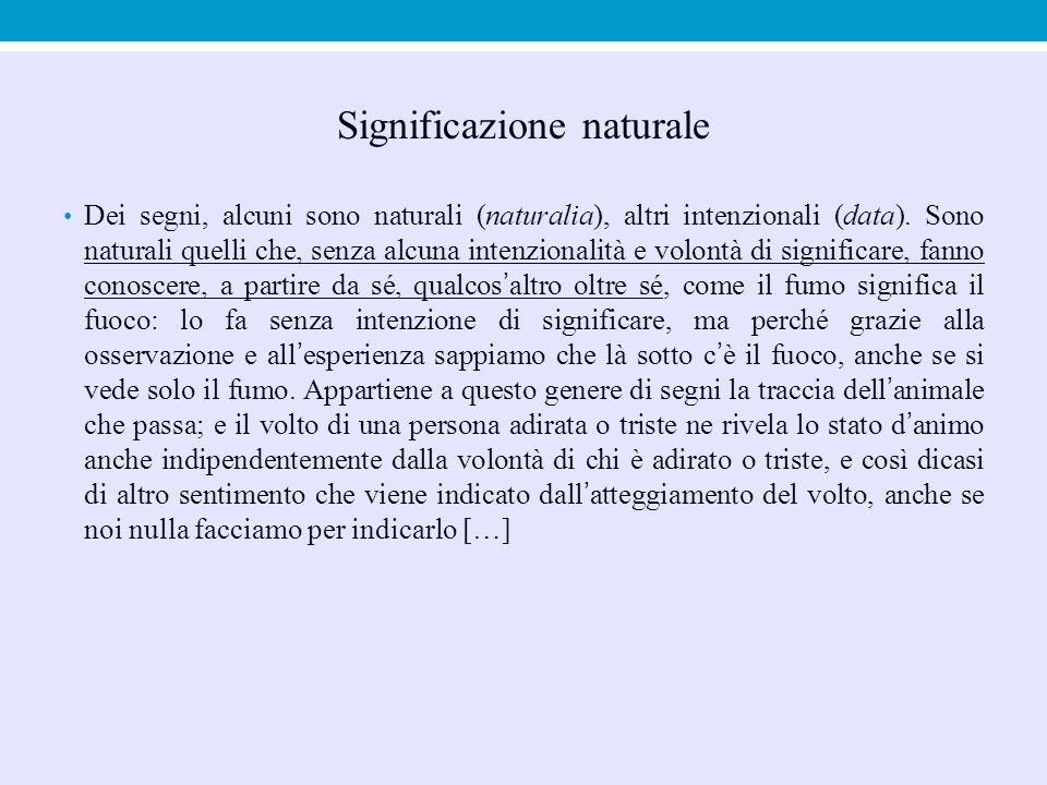 Significazione naturale