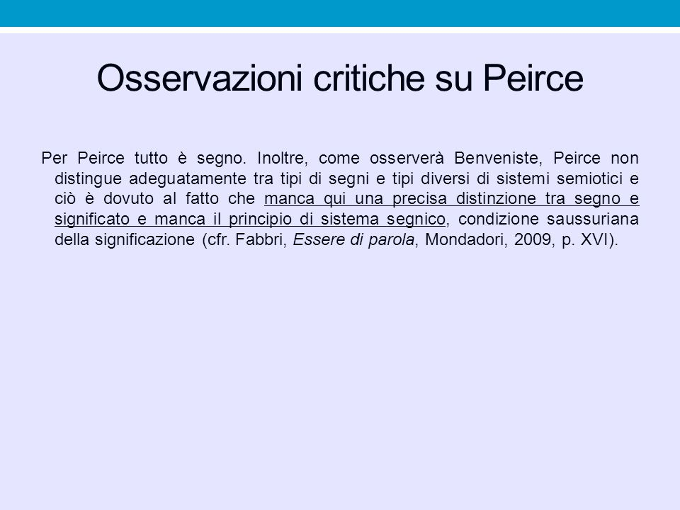 Osservazioni critiche su Peirce