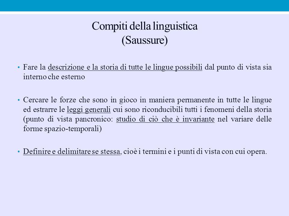 Compiti della linguistica (Saussure)