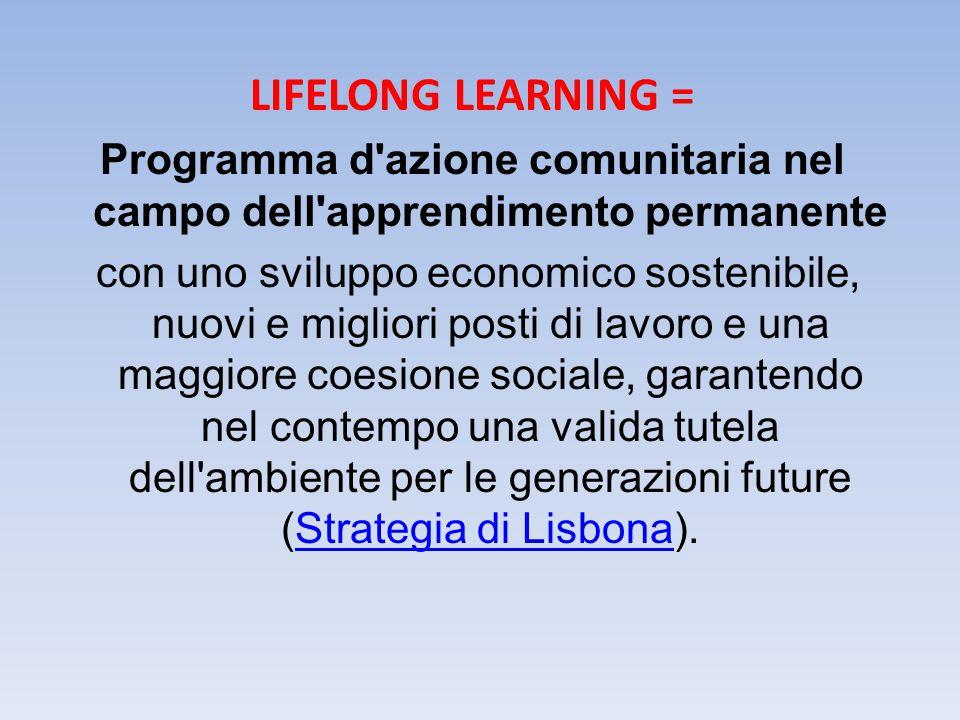 Programma d azione comunitaria nel campo dell apprendimento permanente
