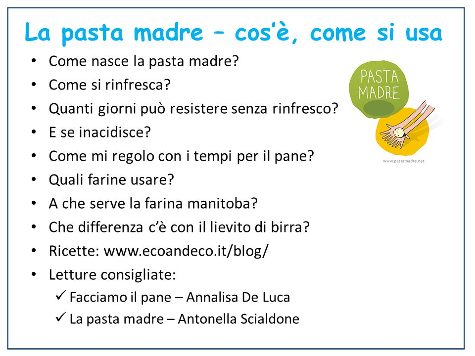 La pasta madre – cos'è, come si usa