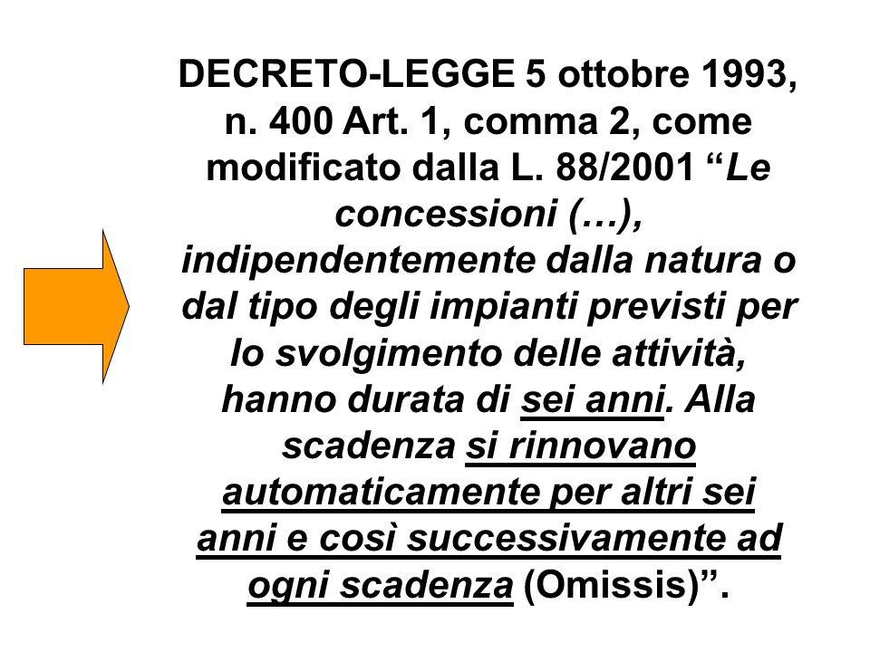 DECRETO-LEGGE 5 ottobre 1993, n. 400 Art