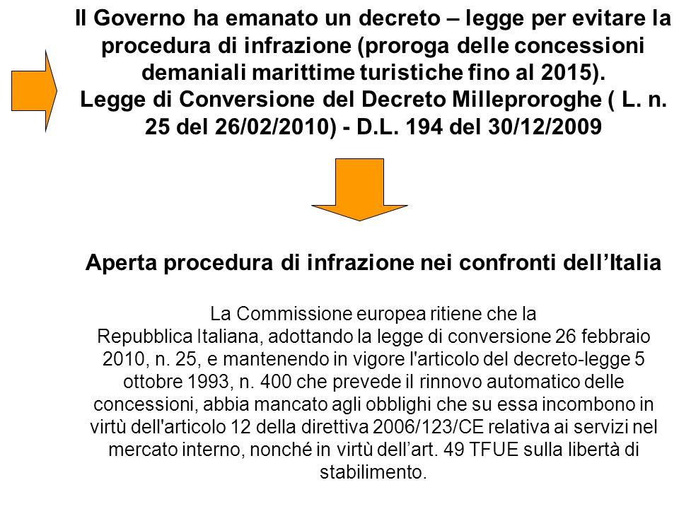 Aperta procedura di infrazione nei confronti dell'Italia