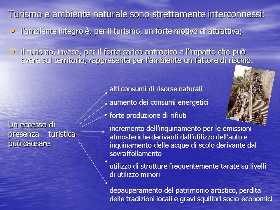 Turismo e ambiente naturale sono strettamente interconnessi: