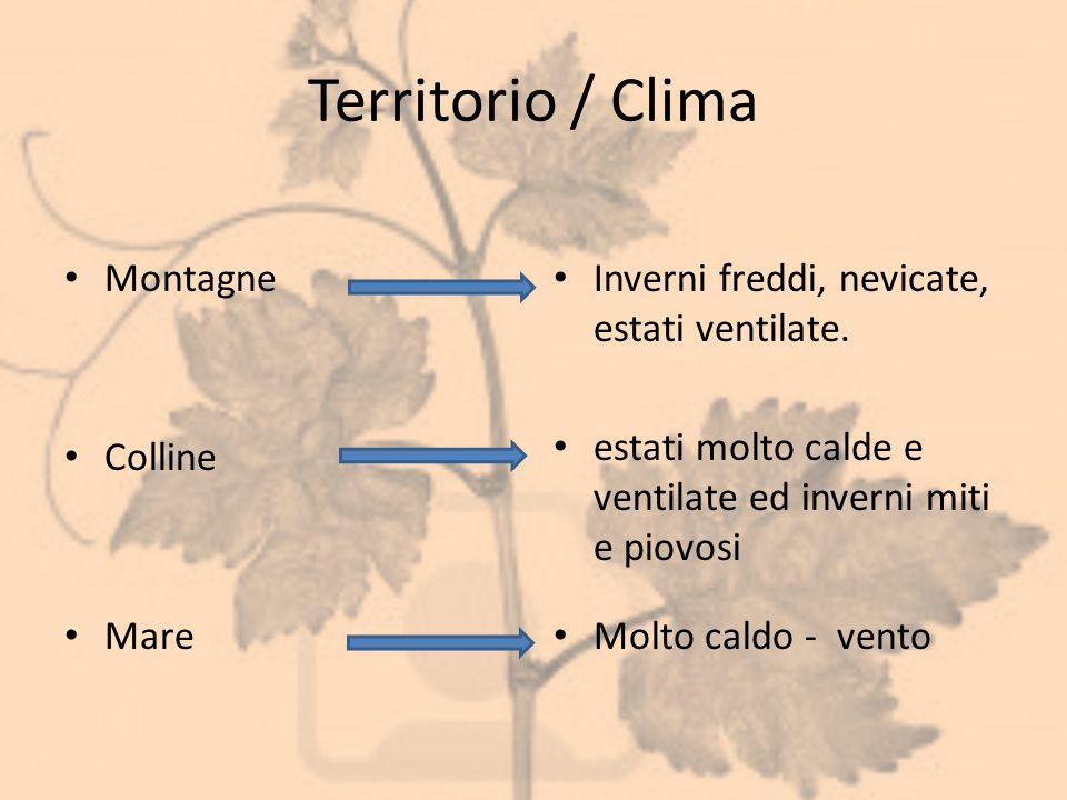 Territorio / Clima Montagne Colline Mare