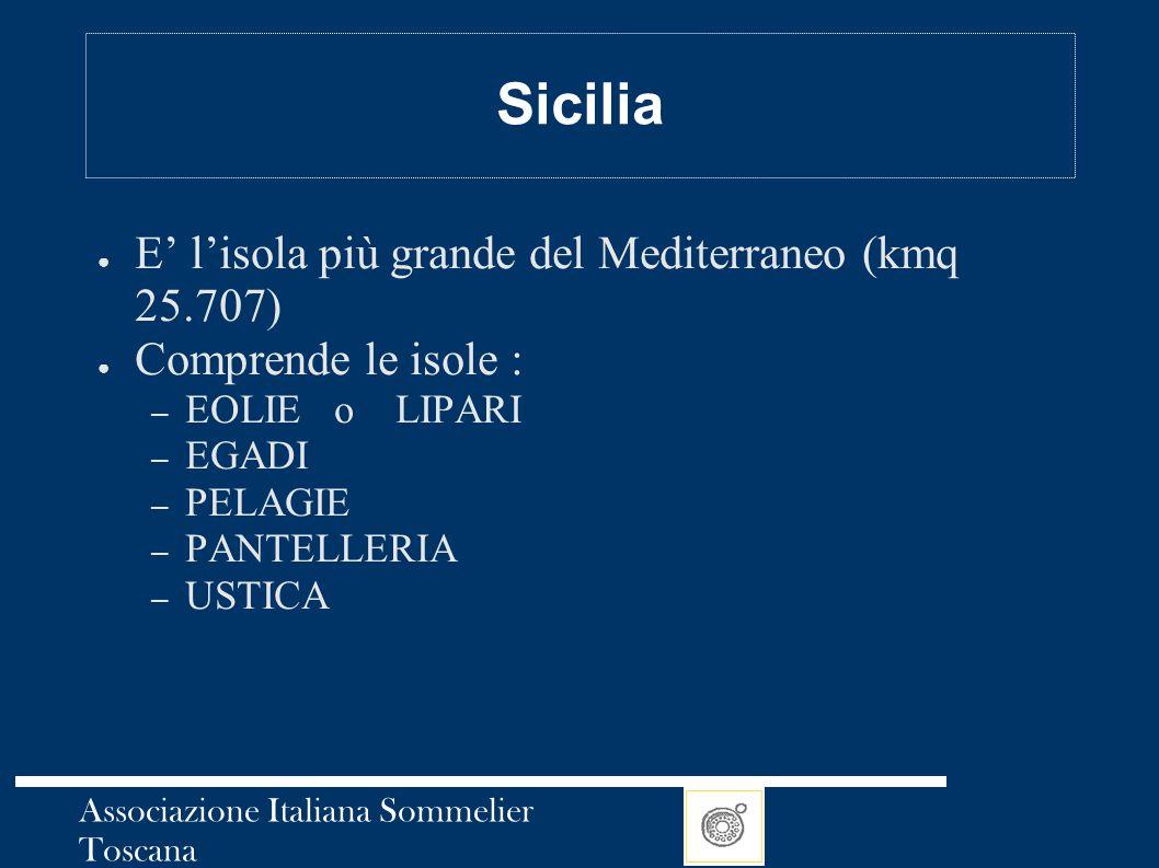 Sicilia E' l'isola più grande del Mediterraneo (kmq 25.707)