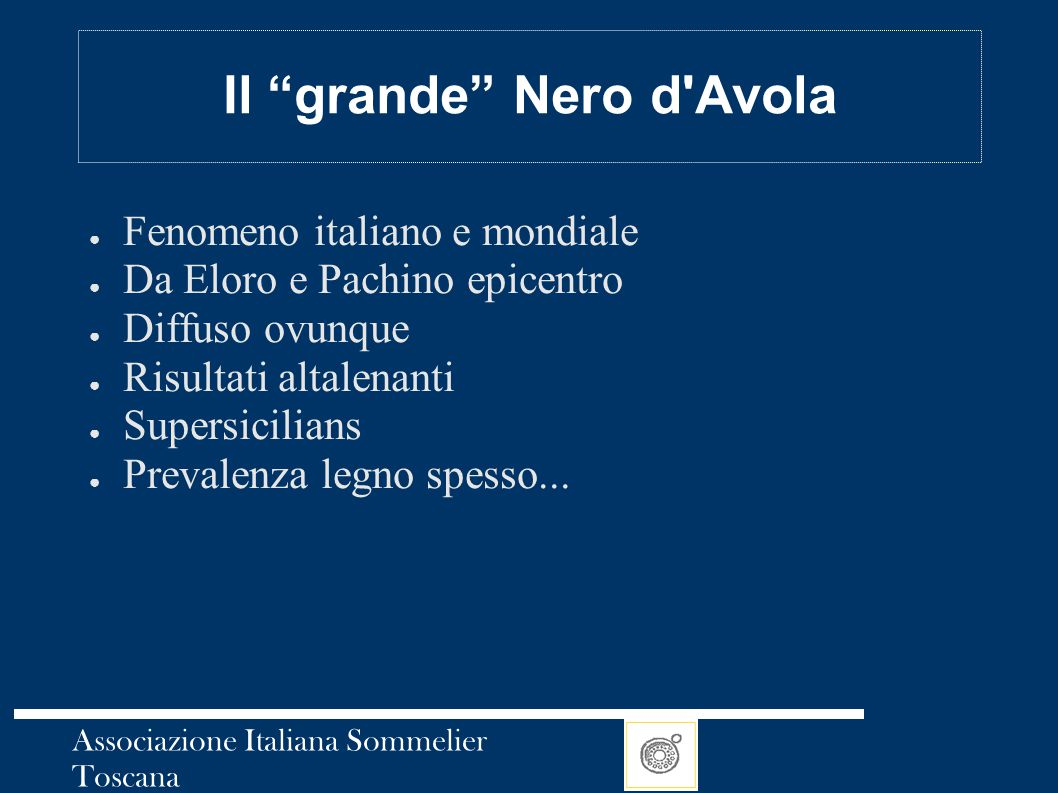 Il grande Nero d Avola