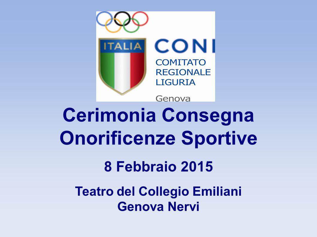Onorificenze Sportive Teatro del Collegio Emiliani
