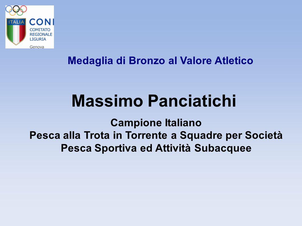 Massimo Panciatichi Medaglia di Bronzo al Valore Atletico
