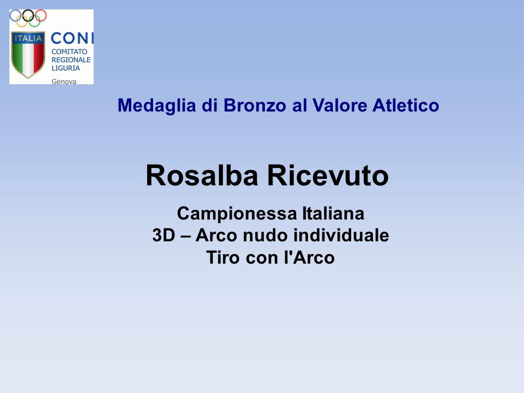Medaglia di Bronzo al Valore Atletico 3D – Arco nudo individuale