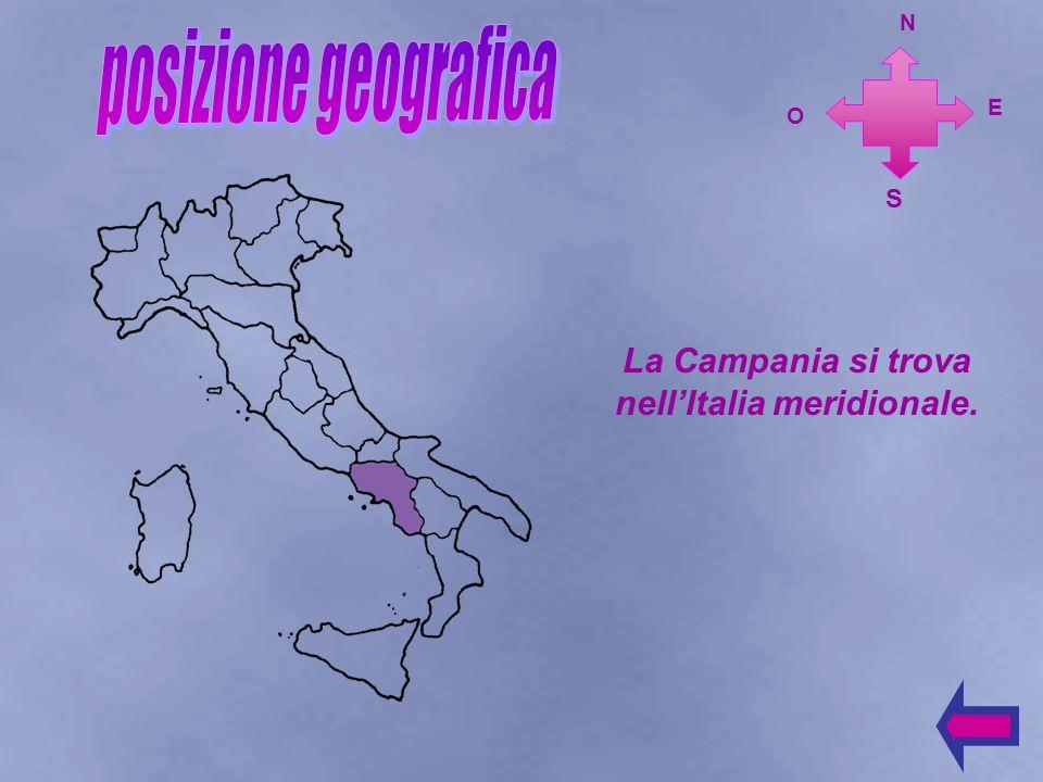 La Campania si trova nell'Italia meridionale.