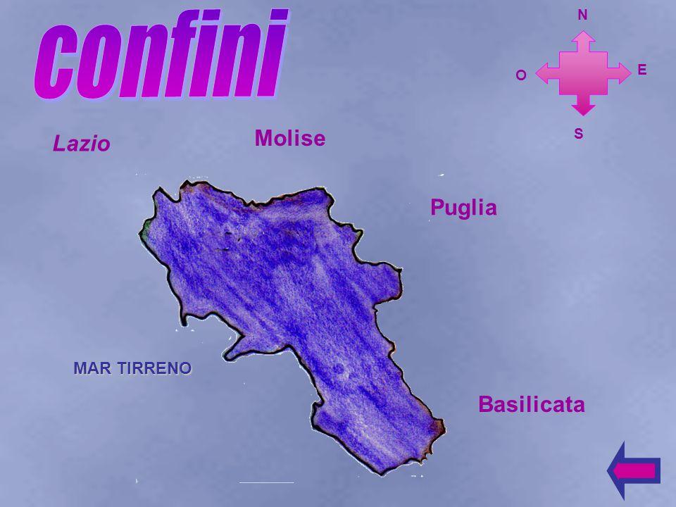 confini N E O Molise S Lazio Puglia MAR TIRRENO Basilicata