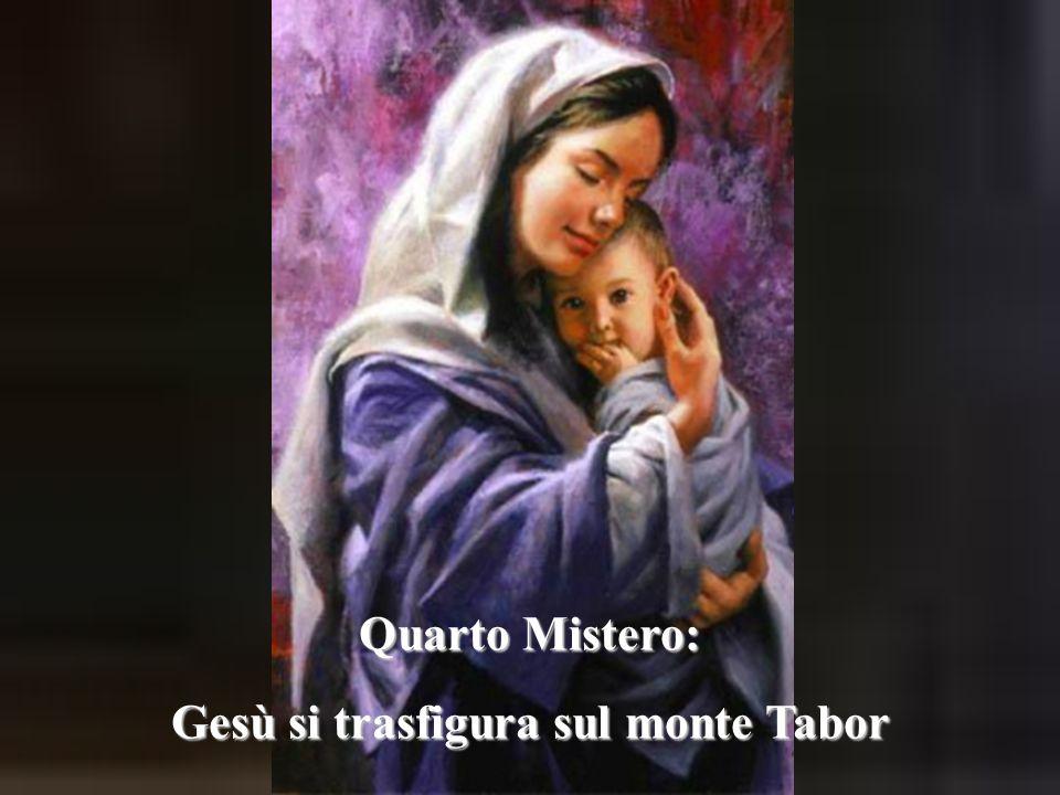 Gesù si trasfigura sul monte Tabor
