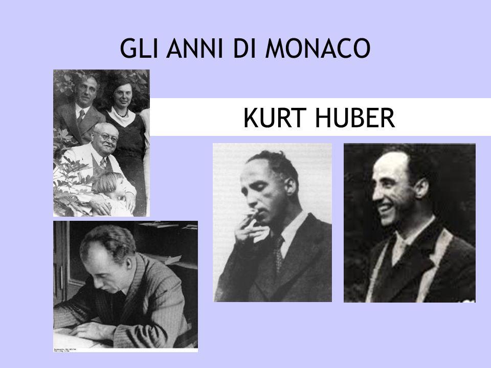 GLI ANNI DI MONACO KURT HUBER