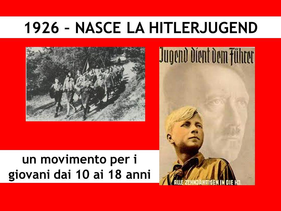 1926 – NASCE LA HITLERJUGEND