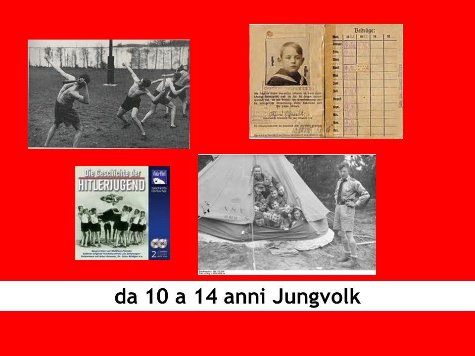 da 10 a 14 anni Jungvolk