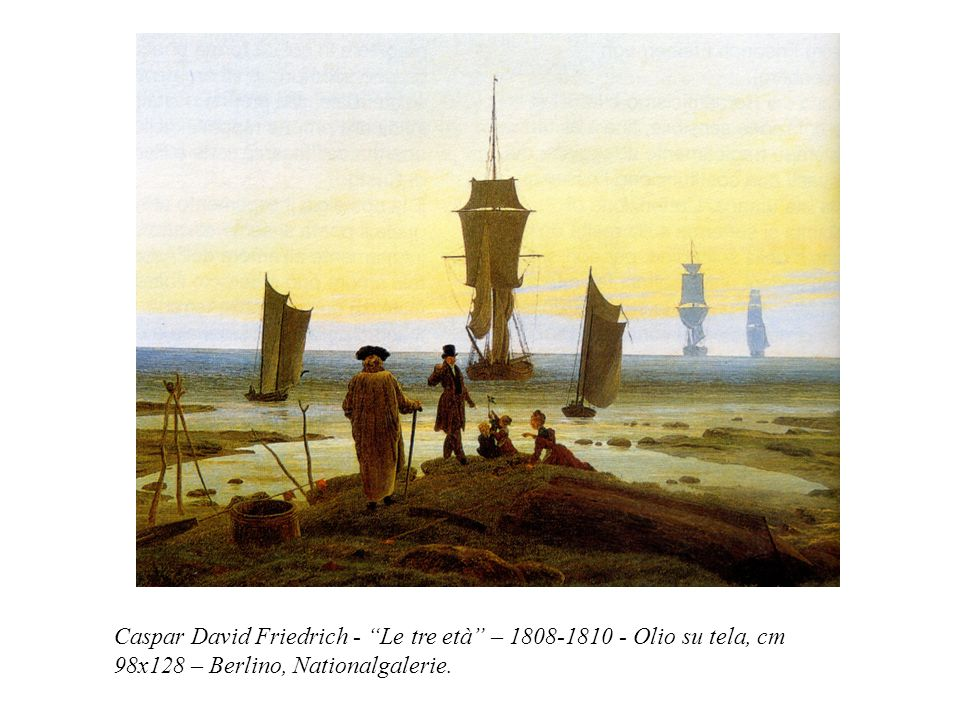 Caspar David Friedrich - Le tre età – 1808-1810 - Olio su tela, cm 98x128 – Berlino, Nationalgalerie.