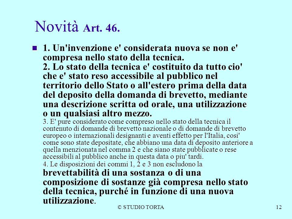 Novità Art. 46.