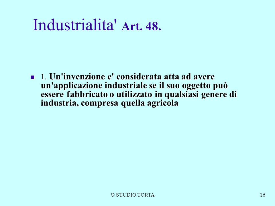 Industrialita Art. 48.